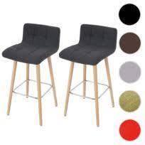 tabouret chaise de bar miliboo tabouret chaise de bar design bois naturel et blanc