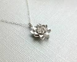 sterling silver flower necklace images Back in stock small silver lotus flower necklace simple everyday jpg
