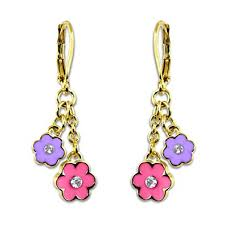 hypoallergenic earrings jewelry for kids flower earrings for 18k gold