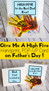 give me a high five handprint father u0027s day card