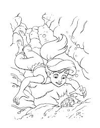 mermaid 2 coloring pages cartoon beautiful