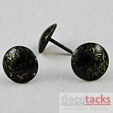 Where To Buy Upholstery Tacks 100 Vintage Dark Distressed Brass Upholstery Tacks Upholstery