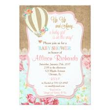 air balloon invitations announcements zazzle