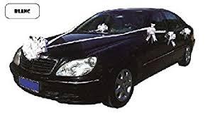 kit deco voiture mariage cotillon d alsace kit blanc de décoration de voiture mariage
