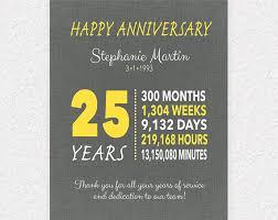 work anniversary gifts 10 year work anniversary gift 25 year anniversary gift
