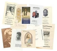 images of funeral programs american funeral programs enoch pratt free library