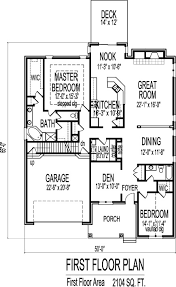 Cottage Floor Plans One Story 2 Bedroom House With Open Floor Plan Single Story House Plans Design