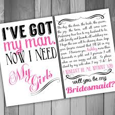 bridesmaid invitations will you be my bridesmaid invitation printable bridal party