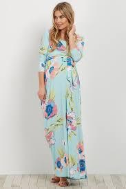 maternity nursing mint floral sash tie maternity nursing maxi dress