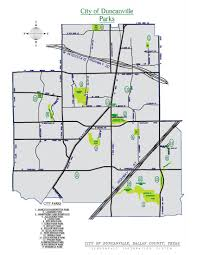 Dfw County Map City Of Duncanville Parks Map City Of Duncanville Texas Usa