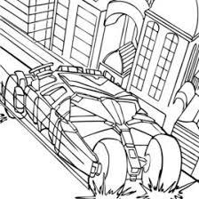 coloring pages batman car archives mente beta complete