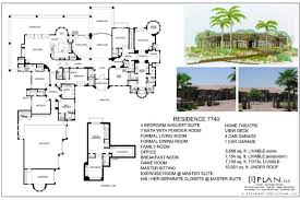 floor plans 7501 sq ft 10000 8000 one story house plan 7740 120