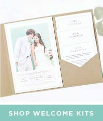 invitation pockets pocket wedding invitations by basic invite