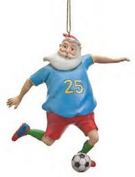santa soccer ornament ornaments