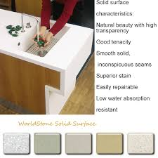 Solid Surface Kitchen Countertops Corian Solid Surface Countertop Guangzhou Worldstone Building