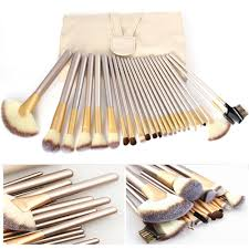 24 18 12pcs professional luxury makeup champagne gold brushes