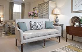Living Spaces Sofas by High Back Linen Sofa In Open Plan Living Space Helps Zone Areas