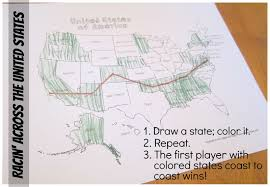 How To Draw A United States Map by Relentlessly Fun Deceptively Educational Racin U0027 Across The