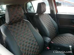 Vehicle Leather Upholstery Quilted Type Clazzio Leather Seat Covers