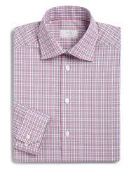 eton of sweden contemporary fit cotton check dress shirt for men