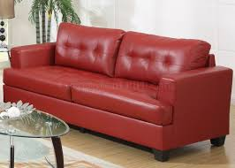Bonded Leather Loveseat Sofa U0026 Loveseat In Red Bonded Leather By Glory Furniture