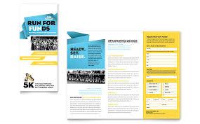 charity run tri fold brochure template word u0026 publisher