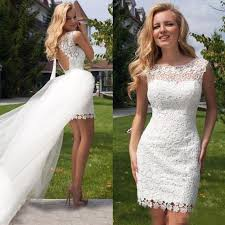 casual wedding dress discount 2016 wedding dresses with detachable skirt