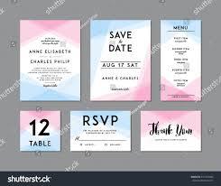 modern wedding set template modern design stock vector 471974684