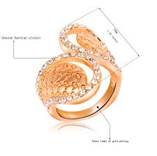 fashion water drop big rings trendy gold color party cocktail