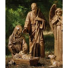 joseph and jesus large nativity set co uk garden