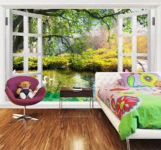 papier peint trompe l oeil chambre papier peint tapisserie personnalisé paysage trompe l oeil effet