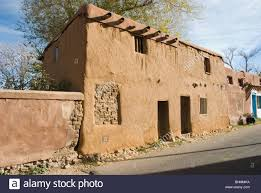 new mexico house oldest house in the united states santa fe new mexico stock