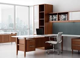 Modern Wood Office Desk Retro Modern Wood Office Desk Ambience Doré