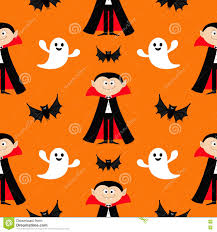 happy ghost clipart seamless pattern count dracula flying bat ghost spirit cute