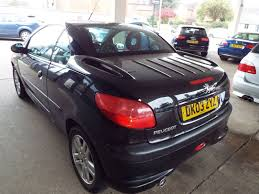 peugeot 206 cabriolet 2003 peugeot 206 black silver s coupe cabriolet 700
