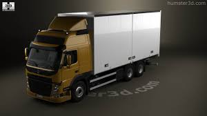 2013 volvo truck 360 view of volvo fm 370 box truck 2013 3d model hum3d store
