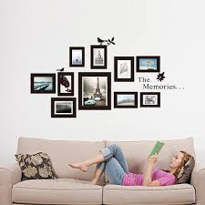 Wall Quotes For Living Room amazon com the memories quotes wall decor with 10 photo frames