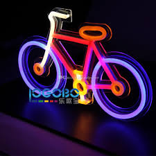 welcome home party decorations cheap personalized bike fluorescent cool neon wall light led signs