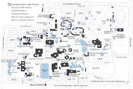 Csus Map Emergency Blue Light Phones California State University Stanislaus