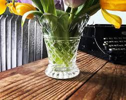 Vintage Waterford Crystal Signed 8 Inch Flower Vase In Antique Crystal Vase Etsy