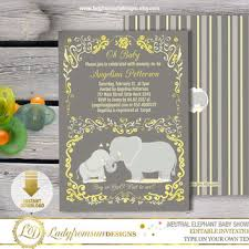 yellow and gray baby shower best yellow gray baby shower invitations products on wanelo