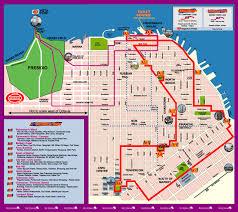 san francisco map downtown san francisco downtown trip map