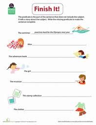 get into grammar practice writing predicates worksheet