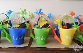 personalized buckets theme party favors personalized party favors