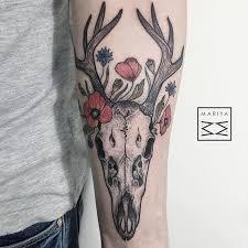 collection of 25 tribal deer skull on shoulder
