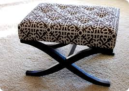 Upholstery Fabric For Chairs by Remodelaholic No Sew Way To Recover An Ottoman