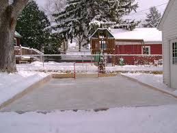 backyard hockey rink size outdoor furniture design and ideas