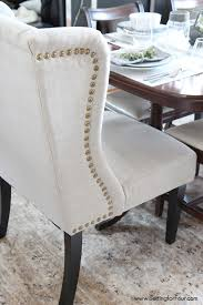Dining Room Trim Ideas Dining Room Update Wingback Chairs Room And Upholstery