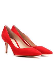 gianvito rossi escarpins en daim 70 rouge femme gianvito rossi e