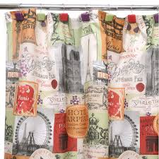 Words Shower Curtain Fabulous French Themed Shower Curtain About Total Fab Fabric